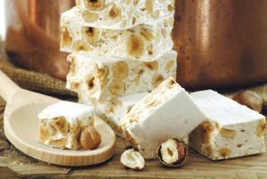 Nougat or turron sweets.